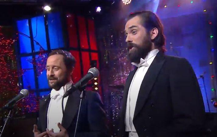 Gissur Páll og Elmar.
