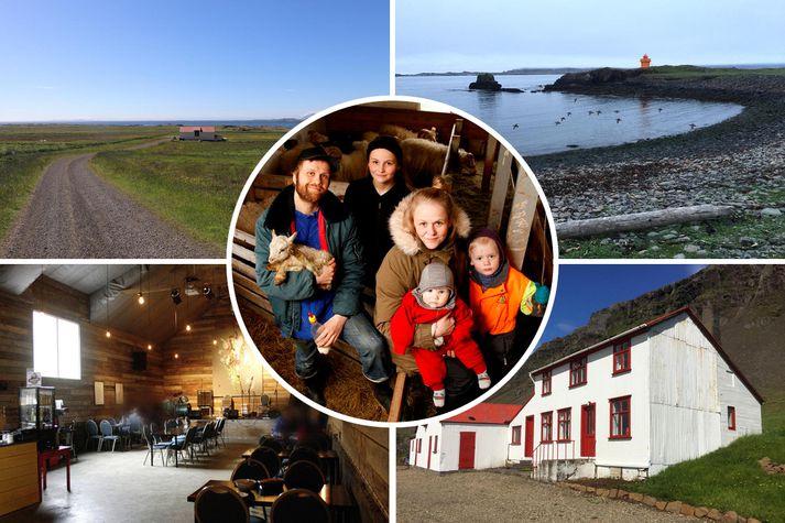 Þau hjónin hafi búið á Karlsstöðum síðan 2014 með börnum sínum þremur.