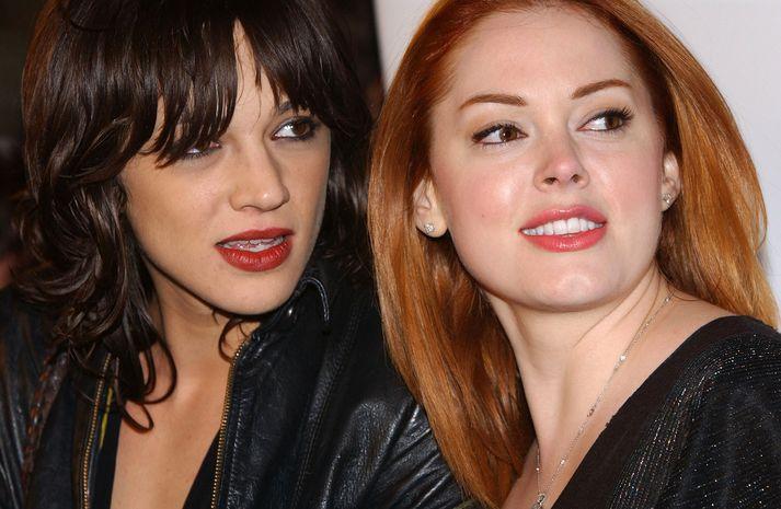 Leikkonurnar Asia Argento og Rose McGowan.