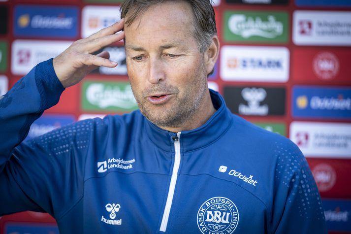Kasper Hjulmand, þjálfari danska landsliðsins.