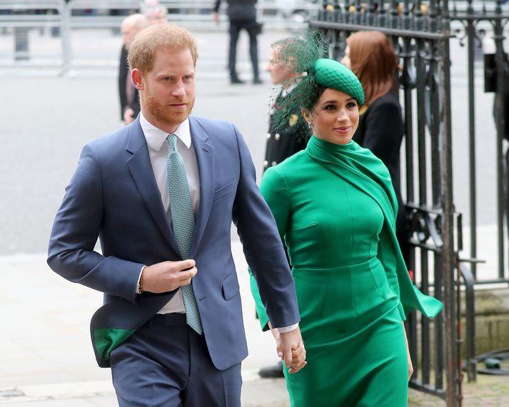 Harry og Meghan í Lundúnum.