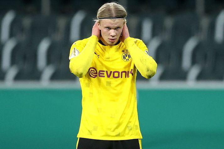 Erling Haaland er kominn með 27 mörk í 27 leikjum með Dortmund í öllum keppnum á þessu tímabili.