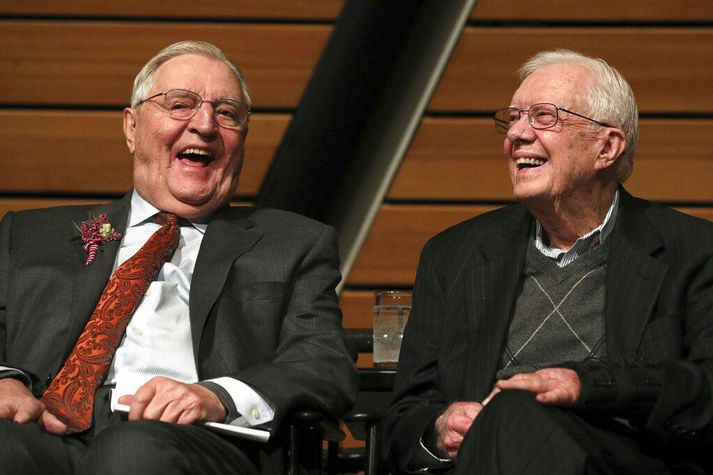 Mondale og Carter árið 2018.