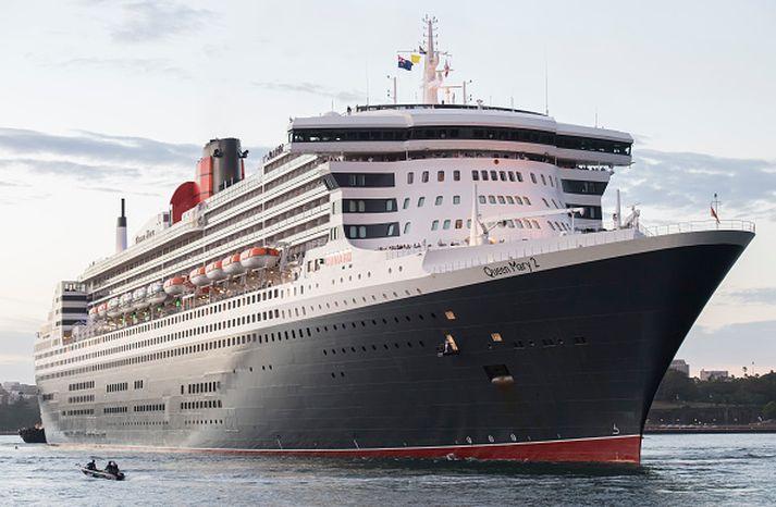 Hið 345 metra langa skip Queen Mary 2 er væntanlegt í júlí. Aldrei hefur jafn langt skip lagt að í Reykjavík.