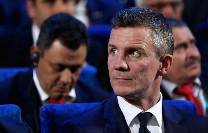 Guðni Bergsson, formaður KSÍ, á þingi FIFA.