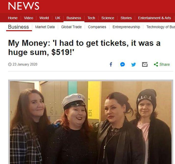 Forsíða umfjöllunar BBC.