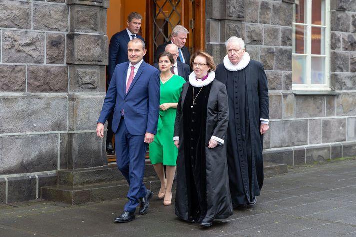 Frá setningu 150. löggjafarþings Alþingis þann 10. september fyrra.