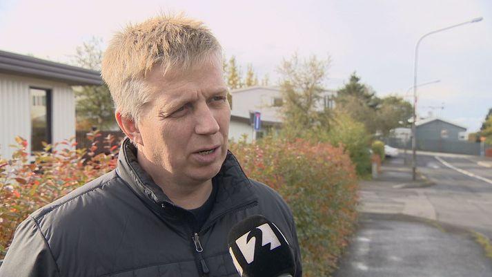 Víðir Reynisson frá lögreglunni á Suðurlandi.