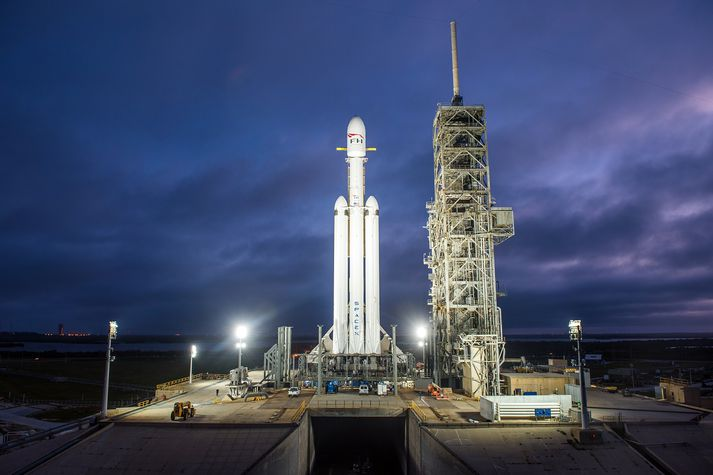 Falcon 9 eldflaug SpaceX.