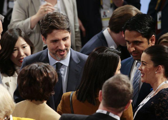 Justin Trudeau er forsætisráðherra Kanada.