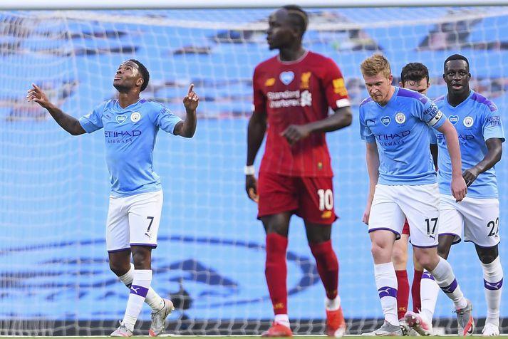 Raheem Sterling og félagar í Manchester City geta fagnað í dag eftir úrskurðinn hjá CAS.