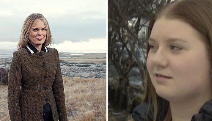 Björt Ólafsdóttir og Adda Þóreyjardóttir Smáradóttir.