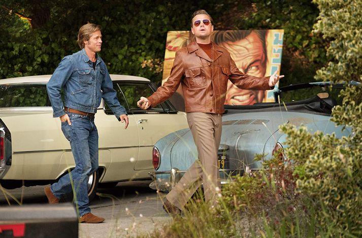 Brad Pitt og Leonardo DiCaprio leika aðalhlutverkin í myndinni.