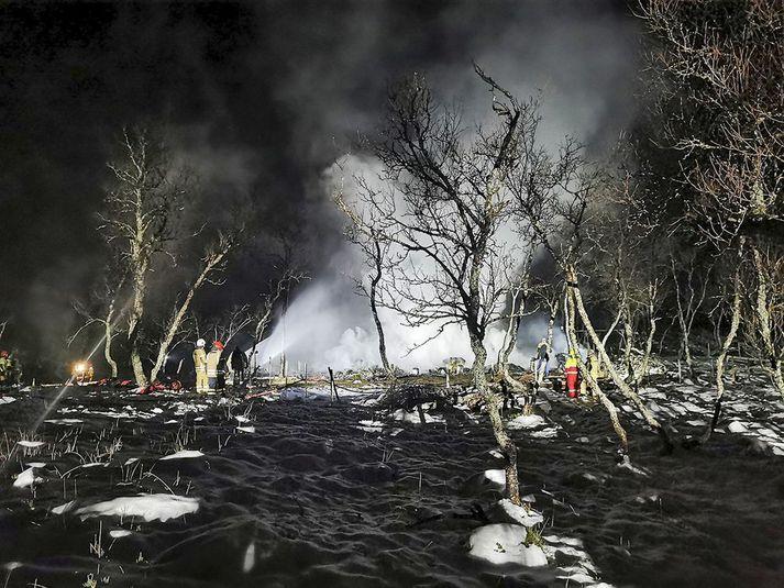 Sumarbústaðurinn brann til grunna aðfaranótt laugardags.