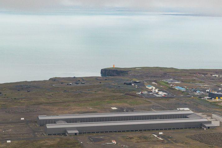 Frá Helguvík við Reykjanesbæ.