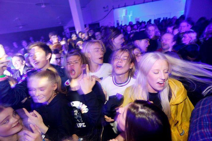 Frá Iceland Airwaves árið 2016. Fyrsta hátíðin var haldin árið 1999, fyrir 20 árum síðan.