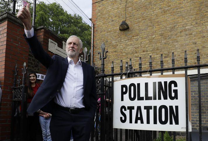Jeremy Corbyn, leiðtogi Verkamannaflokksins.