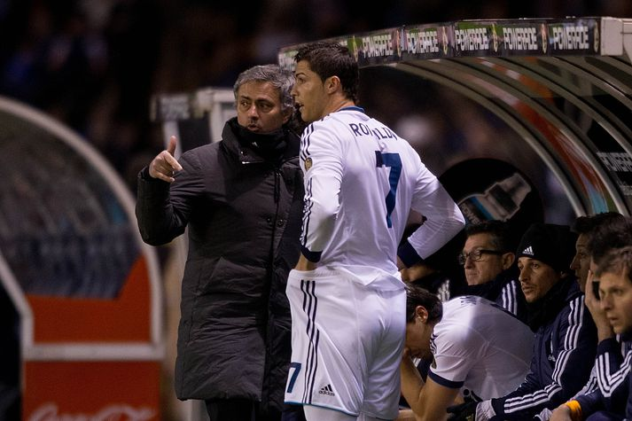 Ronaldo og Mourinho.