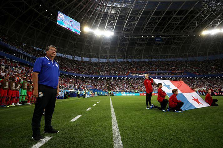 Hernan Dario Gomez á hliðarlínunni í Rússlandi