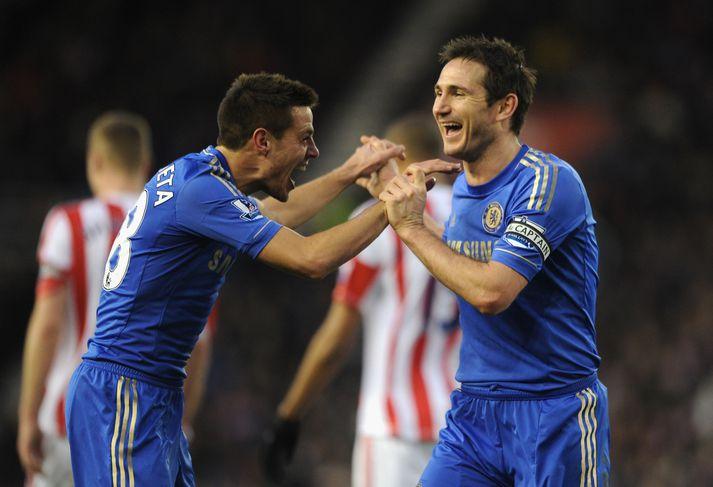 Azpilicueta og Lampard léku saman hjá Chelsea í tvö ár. Nú hafa hlutverk þeirra hjá félaginu breyst.