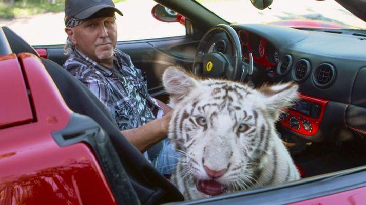 Jeff Lowe kom við sögu í þáttunum Tiger King.