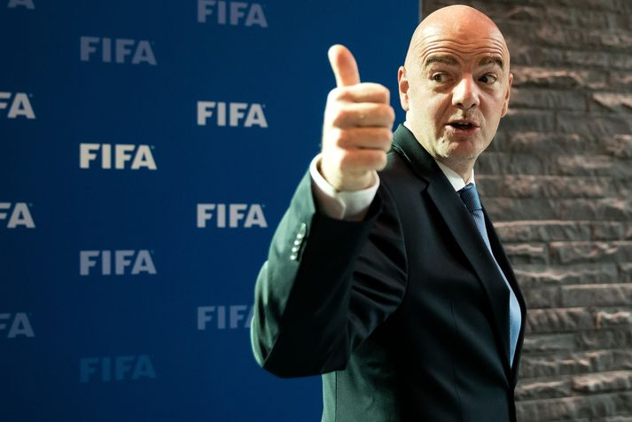 Gianni Infantino, forseti FIFA, hefur verið sáttur með niðurstöðu siðanefndarinnar.
