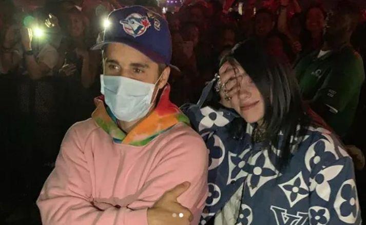 Bieber og Billie Eilish eru ekki á flæðiskeri stödd.