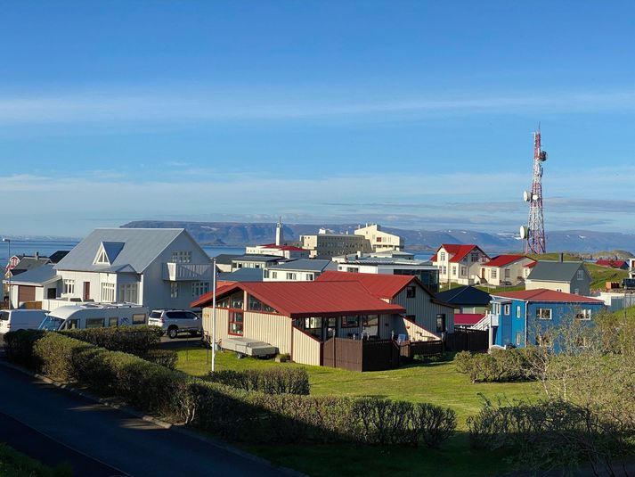 Frá Stykkishólmi. Gul viðvörun hefur verið gefin út á Breiðafjarðarsvæðinu.