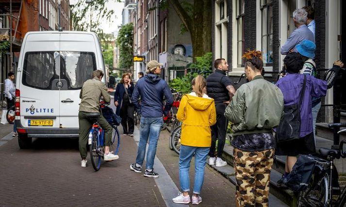 Af vettvangi í Amsterdam í kvöld.