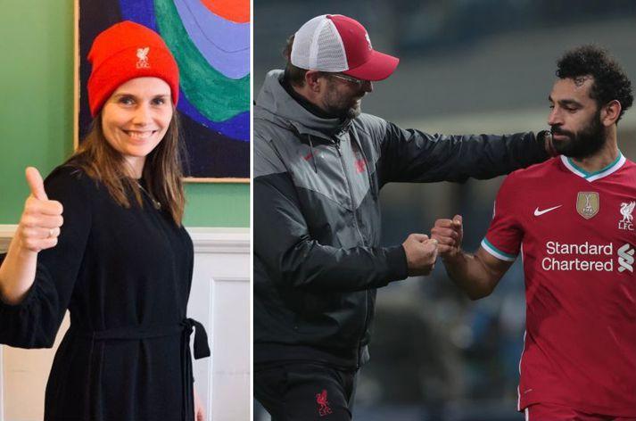 Katrín hefur miklar mætur á Jürgen Klopp og Mohamed Salah, sem og reyndar Liverpool-liðinu öllu.