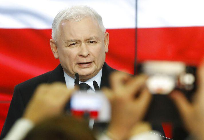 Jaroslaw Kaczynski er formaður PiS.