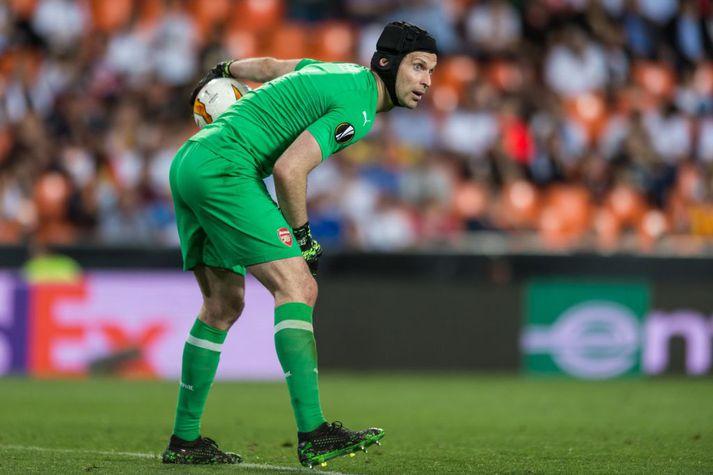 Petr Cech hefur varið mark Arsenal í Evrópudeildinni
