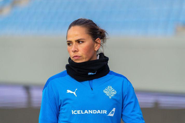 Sara Björk Gunnarsdóttir er fyrirliði íslenska landsliðsins.
