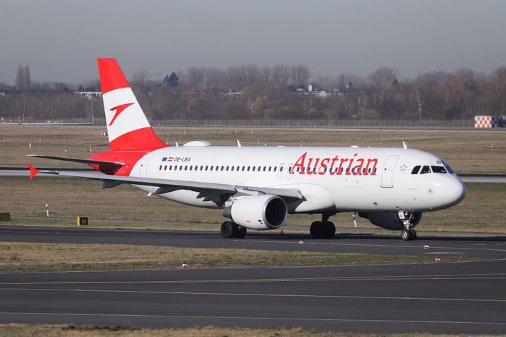 Flugvél flugfélagsins Austrian Airlines.
