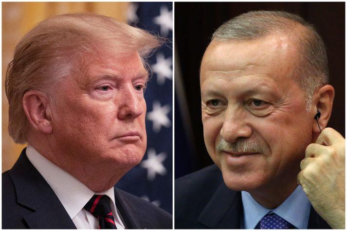 Donald Trump Bandaríkjaforseti og Recep Tayyip Erdogan, forseti Tyrklands.