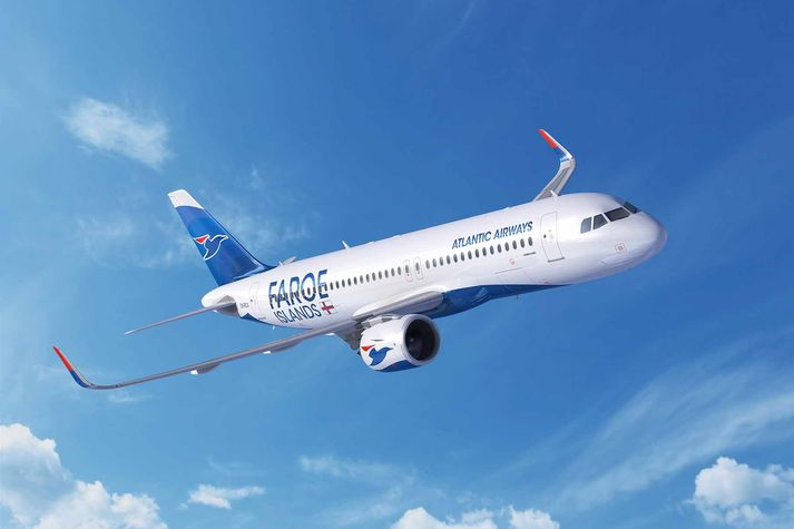 Nýju Airbus A320neo-þotur Atlantic Airways munu líta svona út.