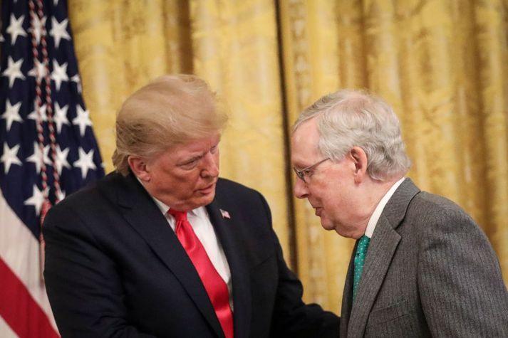 Trump og McConnell þegar allt lék í lyndi á milli þeirra í forsetatíð þess fyrrnefnda.