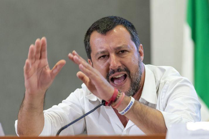 Salvini er ósáttur.