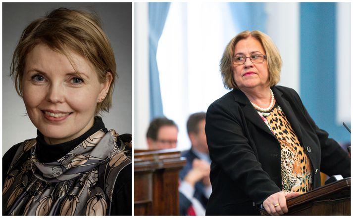 Steinunn Þóra og Inga skipust á orðum í dag.