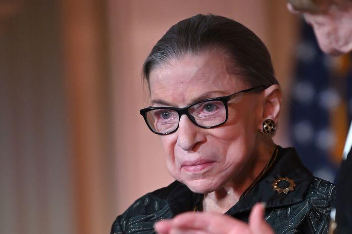 Ruth Bader Ginsburg var 87 ára.