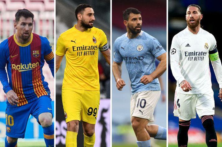 Lionel Messi, Gianluigi Donnarumma, Sergio Agüero og Sergio Ramos gætu allir verið frítt frá sínum félögum í sumar.