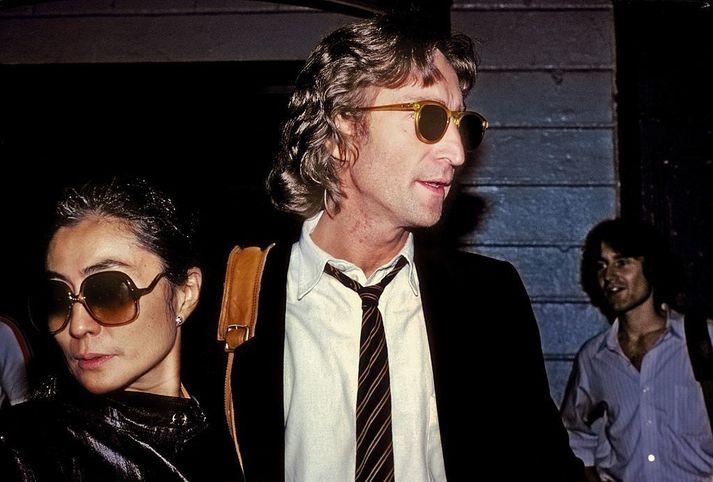 John Lennon og Yoko Ono árið 1980.