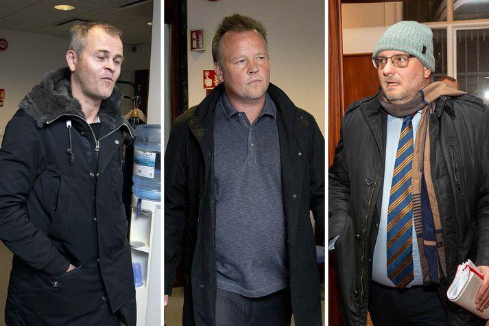 Kjartan Bergur Jónsson, Kjartan Jónsson og Kristján Georg Jósteinsson hlutu allir dóm í dag.