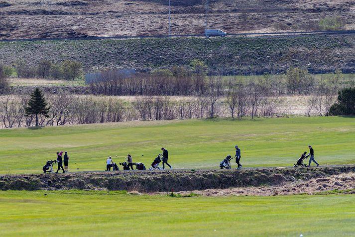 Það ætti að viðra ágætlega til golfiðkunar næstu daga.
