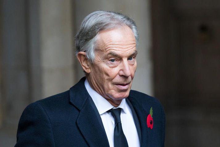 Blair fór ófögrum orðum um ákvörðunina um að yfirgefa Afganistan.