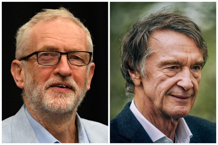 Jeremy Corbyn og James Ratcliffe.