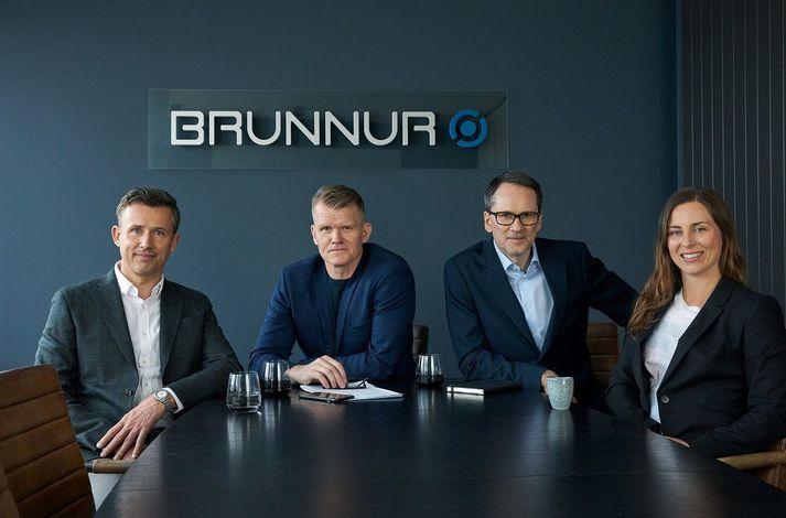 Kjartan Örn Ólafsson, Árni Blöndal, Sigurður Arnljótsson og Margrét Ormslev Ásgeirsdóttir eru fjárfestingastjórar Brunns Ventures.