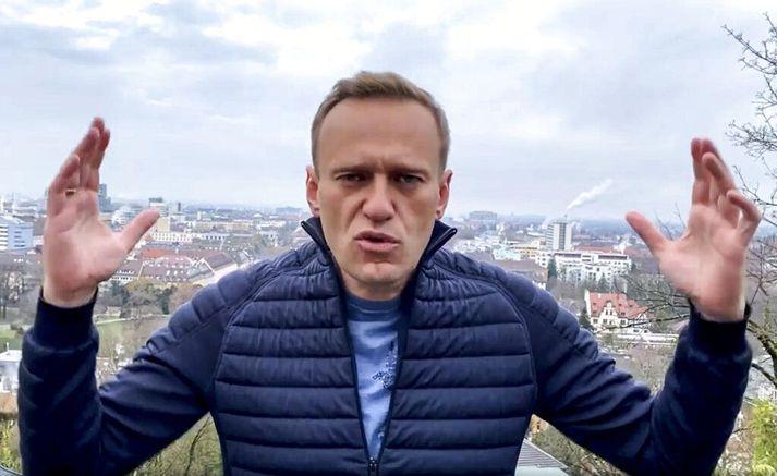 Alexei Navalní greinir frá ákvörðun sinni á Instagram-síðu sinni.