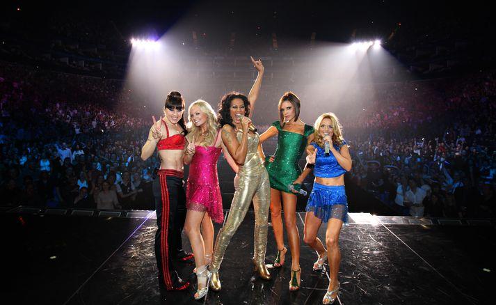 Spice Girls saman á sviði árið 2007.