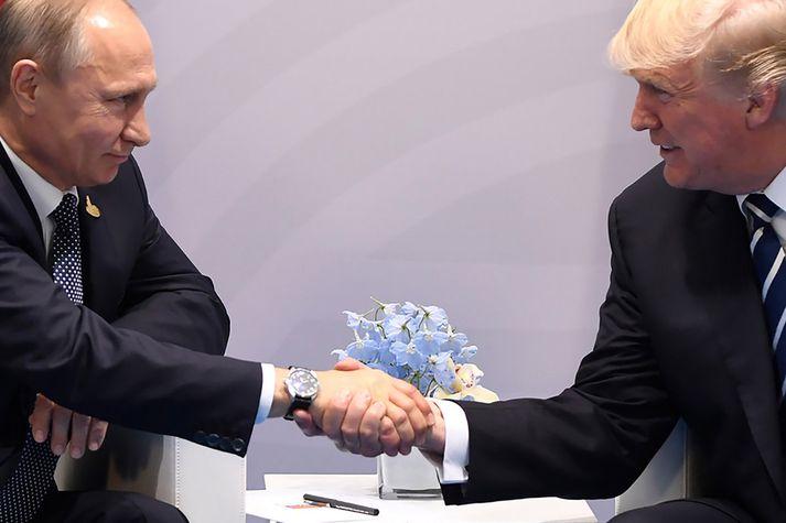 Samband Pútíns og Trumps hefur verið gagnrýnt.